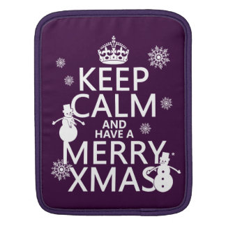 Keep Calm and Have A Merry Xmas (Christmas) Sleeve For iPads