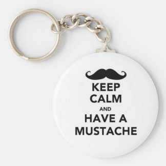 Keep calm and have a Mustache Keychain