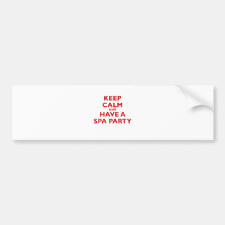 Keep Calm and Have a Spa Party Bumper Sticker