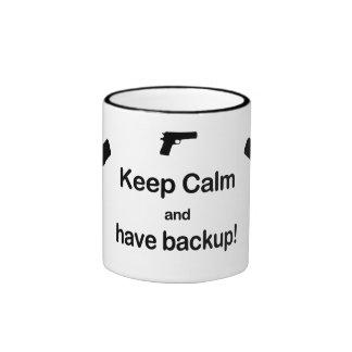 Keep Calm and Have Back Up Ringer Mug