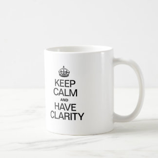 KEEP CALM AND HAVE CLARITY MUGS