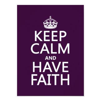 Keep Calm and Have Faith (customizable colors) 5.5x7.5 Paper Invitation Card