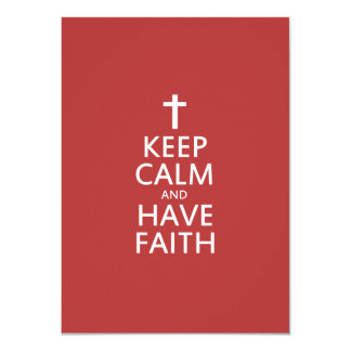 Keep calm and have faith in JESUS 4.5x6.25 Paper Invitation Card