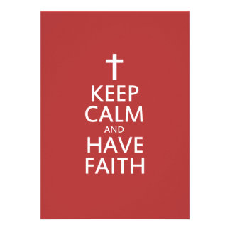 Keep calm and have faith in JESUS Card