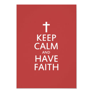 Keep calm and have faith in JESUS 5x7 Paper Invitation Card