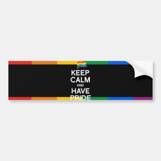 KEEP CALM AND HAVE PRIDE BUMPER STICKERS