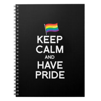 KEEP CALM AND HAVE PRIDE NOTEBOOKS