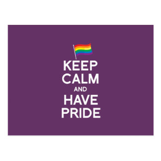 KEEP CALM AND HAVE PRIDE POST CARDS