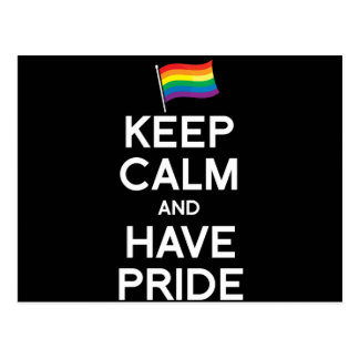 KEEP CALM AND HAVE PRIDE POSTCARDS