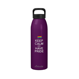 KEEP CALM AND HAVE PRIDE REUSABLE WATER BOTTLES