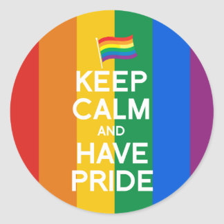 KEEP CALM AND HAVE PRIDE STICKER