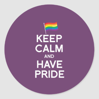 KEEP CALM AND HAVE PRIDE STICKERS