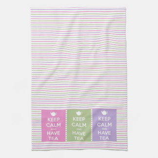 Keep Calm and Have Tea Collage Towel