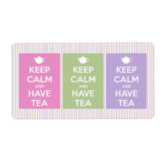 Keep Calm and Have Tea Collage Label