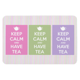 Keep Calm and Have Tea Collage Magnet