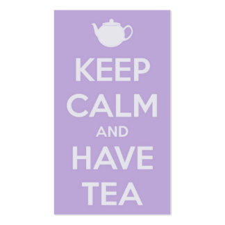 Keep Calm and Have Tea Lavender Business Card