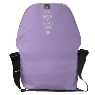 Keep Calm and Have Tea Lavender Courier Bag