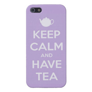 Keep Calm and Have Tea Lavender iPhone 5 Case