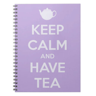 Keep Calm and Have Tea Lavender Notebook