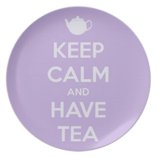 Keep Calm and Have Tea Lavender Plate