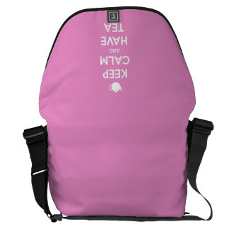 Keep Calm and Have Tea Pink Courier Bag
