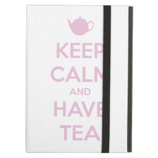 Keep Calm and Have Tea Pink on White iPad Air Case