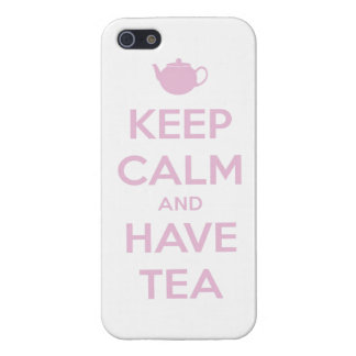 Keep Calm and Have Tea Pink on White Covers For iPhone 5
