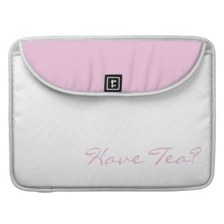 Keep Calm and Have Tea Pink on White Sleeves For MacBook Pro