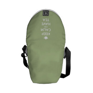 Keep Calm and Have Tea Sage Green Courier Bag