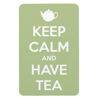 Keep Calm and Have Tea Sage Green Magnet