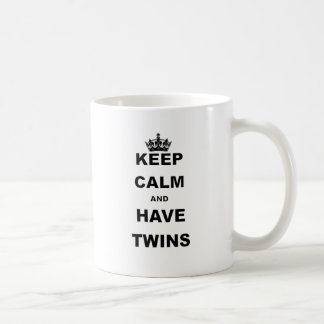 KEEP CALM AND HAVE TWINS COFFEE MUG