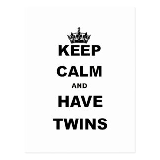 KEEP CALM AND HAVE TWINS POSTCARDS