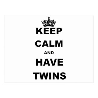 KEEP CALM AND HAVE TWINS POST CARDS