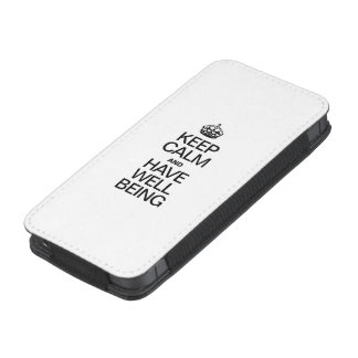 KEEP CALM AND HAVE WELL BEING iPhone 5 POUCH