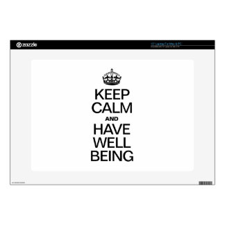 KEEP CALM AND HAVE WELL BEING LAPTOP DECAL