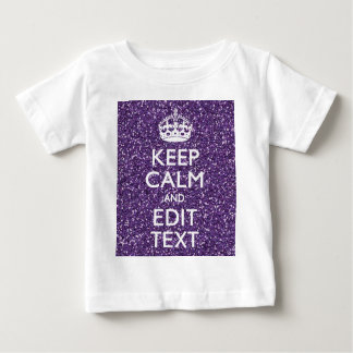 Keep Calm and Have Your Text Glamour Mauve Baby T-Shirt