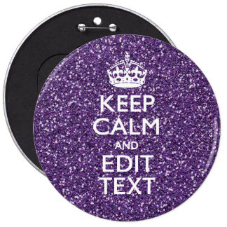 Keep Calm and Have Your Text Glamour Mauve Button