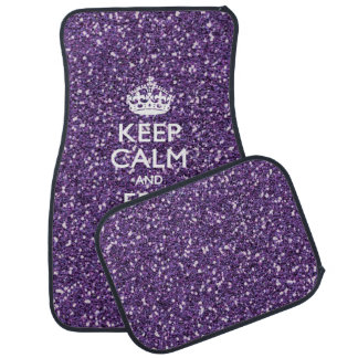 Keep Calm and Have Your Text Glamour Mauve Car Floor Mat
