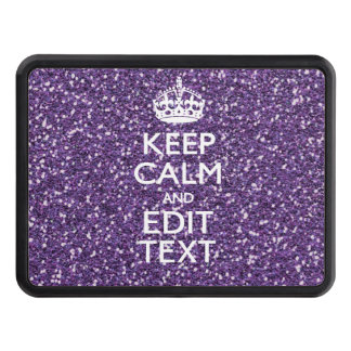 Keep Calm and Have Your Text Glamour Mauve Hitch Cover