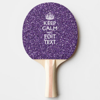 Keep Calm and Have Your Text Glamour Mauve Ping-Pong Paddle