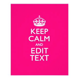 KEEP CALM AND Have Your Text on PINK Flyer
