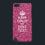 "Keep Calm and Have Your Text on Pink Rose iPod Touch (5th Generation) Case<br><div class=""desc"">Your personalized Keep Calm saying on a fine custom pink rose glamour style decor. A personalized Keep Calm style saying on a one of a kind gift. Humorous or whimsical try on your creative words on two editable lines of text. Remember to use CAPITAL letters for best results. Embroidery designs...</div>"