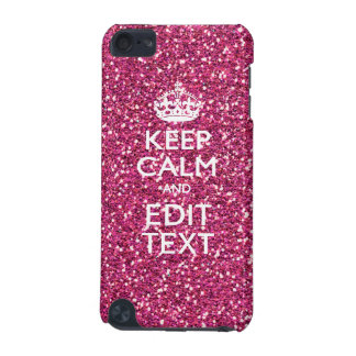 Keep Calm and Have Your Text on Pink Rose iPod Touch (5th Generation) Case