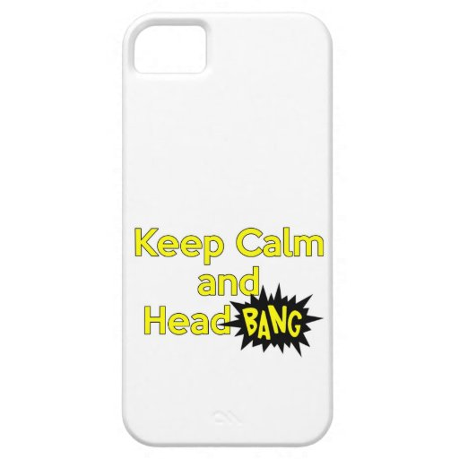 Keep Calm and Head Bang Cover For iPhone 5/5S