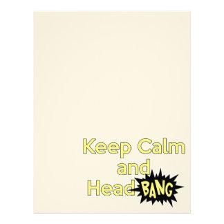 Keep Calm and Head Bang Letterhead