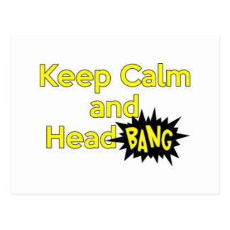 Keep Calm and Head Bang Post Cards