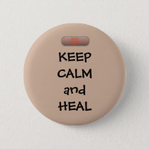 Keep Calm and Heal Button