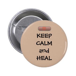 Keep Calm and Heal Button