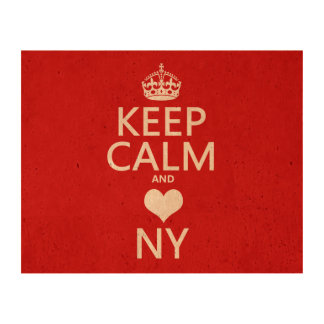 Keep Calm and Heart New York (customisable colors) Cork Fabric