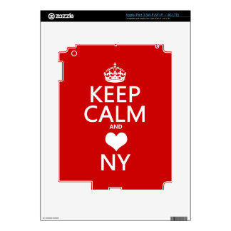 Keep Calm and Heart New York (customisable colors) Decal For iPad 3